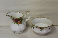 ROYAL ALBERT OLD COUNTRY ROSE CREAM  AND  SUGAR FOR A COFFEE  SET