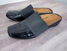 Gentle Souls Iso Mule Slip On Slide Shoes Black Patent Stretch Comfort Womens 8M