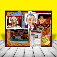 New HANNIBAL LECTER anthony hopkins SILENCE OF THE LAMBS artist signed MOVIE ART