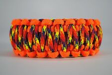 550 Paracord Survival Bracelet King Cobra Orange/Phoenix Rising Camping Tactical