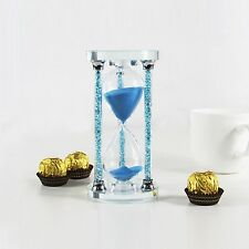 HIJOY 60 Minutes Hourglass Timer Sandglass [Sparkly Crystal Filled Pillars] K...