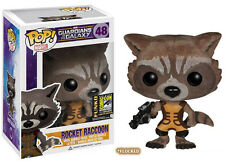 GUARDIANI DELLA GALASSIA SDCC Exclusive FLOCCATO ROCKET RACCOON VINILE FIGURA POP
