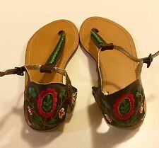 NEW Old Navy Floral Embroider Sandals Women's Size 6-6.5