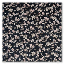 Large Black Cherry Blossom Japanese Furoshiki
