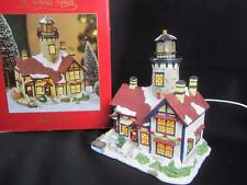 St Nicholas Square Village Collection Lighted Lighthouse Building w/Box