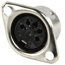 5 Pin DIN Hembra Panel Montaje MIDI er Conector - 180 Grados - Chasis Audio