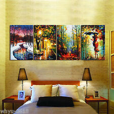4 p Large canvas no frame Modern Abstract Art Oil Painting Wall Art Decor