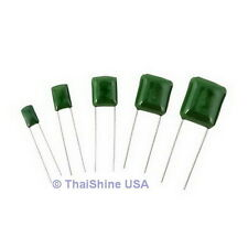50 x 1500pF 0.0015uF 100V 5% Mylar Film Capacitors - USA Seller - Free Shipping