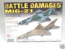 Lindberg 1:72 scale MIG-21 Jet Fighter Battle Damaged Model Kit