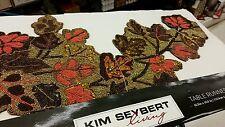 *WOW* Kim Seybert Table Runner  Holiday Harvest Sequin Beaded *NWT!*