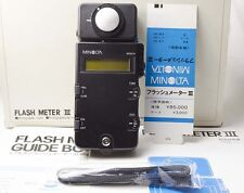 [Mint in Box] Minolta Flash Meter III w/ Strap from Japan #436 Mint condition