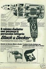 Publicité advertising 1972 Perceuse à percussion Black & Decker