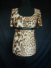 WOW! BNWT IN BAG ROBERTO CAVALLI LEOPARD PRINT TOP DIAMONTE NAME SIZE L UK 12