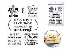 Forever in Time Clear Cling Rubber Stamp Inspirational Sayings