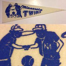1960's Vintage Minnesota Twins Baseball Mlb 3.5x9.5 Mini Pennant Flag