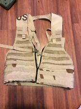 New Tactical FLC Vest Desert Tan Camouflage DCU Fighting Load Carrier MOLLE II