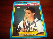 Al Pedrique Pirates 1988 Topps Toys R Us #23/33 Signed Authentic Autograph A9