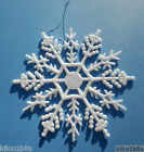 "10 pieces Pearlized AB (Aurora Borealis) 4""Glittered Plastic Snowflake Ornaments"