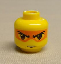 x1 NEW Lego Minifig Head Dual Sided Exo-Force w/ Orange Mask Angry Look Hikaru