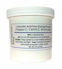 L-Ascorbic Acid Powder (Vitamin C), 6 oz. For DIY Serums and Skin Care.