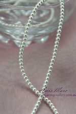 290pcs/strand 3mm Glass Pearl White Color Round DIY Imitation Loose Pearl Beads