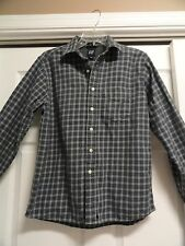 GAP MEN'S SIZE S BLUE AND GRAY PLAID LONG SLEEVE BUTTON DOWN SHIRT
