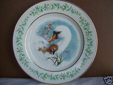 "Vintage Avon Porcelain Collectible 8 3/4"" Plate Gentle Moments Swan & Cygnet  A"