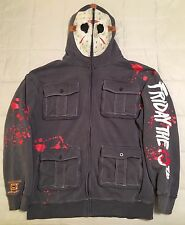 Jason Voorhees Hoodie L Friday 13th Ecko Unltd Hooded Sweater Shirt mask costume