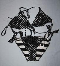 BILLABONG Maillot de bain Bikini noir / blanc petit pois reversible 38 / 40 neuf