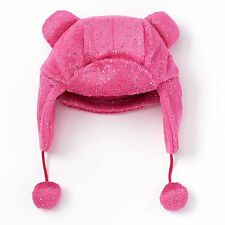NEW Girls Sonoma SO Fleece-Lined Faux-Fur Trapper Hat Pink S (4-7 Yrs) Ear Flaps