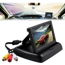 "4.3"" Foldable Monitor TFT LCD For Car Reverse Rear View System Camera GPS DVD"