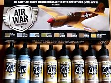 AV Vallejo US Army Air Corps (MTO) Aircraft Colours Acrylic Paint Set For Models