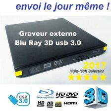 Graveur Blu ray 3D usb 3.0 externe graveur bluray dvd cd ram rom all-in1