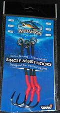 Williamson Lures Single Assist Hooks SAH-ML 7/0 VMC Hook 200lb Long - 3 pack