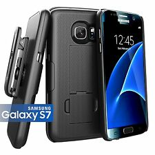 Encased® Samsung Galaxy S7 (Ultra Thin) Belt Case & Holster Clip w/ Kickstand