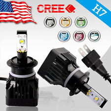 H7 LED Headlights 80W 6000K High/ Low Beam Fog Light Bulbs Super White 8,000 Lm