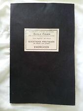 Ecole Pigier 1924 cahier de cours Comptabilité Tenue des livres