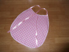 ADULT BABY~SISSY~MAIDS~ UNISEX~FETISH  COTTON GINGHAM PVC BACKED BIB