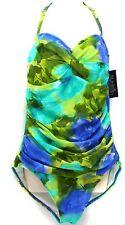 New Simply Swim Spring Spray Twist Bra Bandeau Swimsuit sz 8