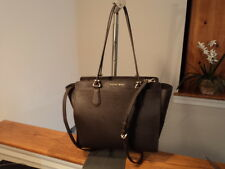 Michael Kors Dee Dee Large Convertible Tote Saffiano Leather Coffee Dark Brown