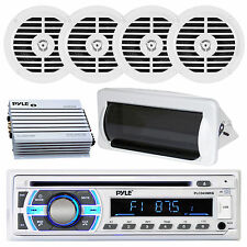 2011 PLCD35MR Marine Boat Yacht USB CD Radio Stereo + 4 Speakers 400W Amp /Cover
