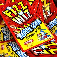 Fizz Wizz Strawberry Loud Popping Candy Party Bag Fillers & Favours - 50 Pk