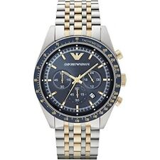 Emporio Armani Men's Quartz Watch with Blue Dial ar 6088-AR Gift bag included!