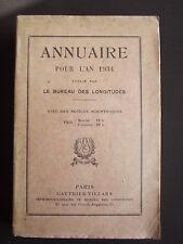 Annuaire pour l'an 1934