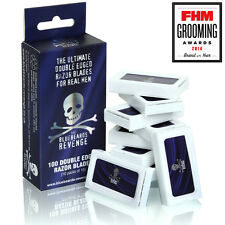100 The Bluebeards Revenge Double Edge Razor Blades (10 Packs of 10)