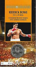 RIDDICK BOWE OFFICIAL ON-SITE COMMEMORTIVE TOKEN *1995 LIMITED EDITION