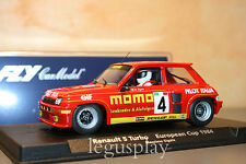 Slot car SCX Scalextric Fly 88188 Renault 5 Momo Turbo European Cup - M. Sigala