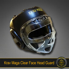Krav Maga Clear Face Head Guard 360 CLEAR VIEW Ballistic ABS Plastic Sparring