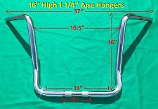 "16"" Chrome Ape Hanger 1-1/4"" Handle Bar fits Harley Davidson Road King & Touring"