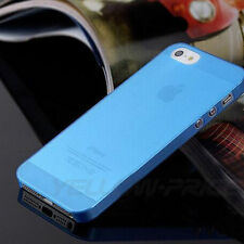 For iPhone 5 5s Glossy Black Translucent Ultra Thin Hard Plastic Case Cover Skin